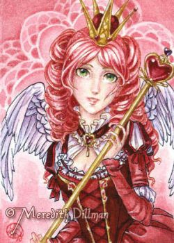 Valentines Queen ACEO by MeredithDillman