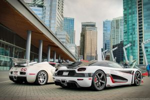 Agera RS Vs Veyron Grand Sport by SeanTheCarSpotter