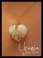 Moonstone Wire Wrap Pendant by kaberaldo