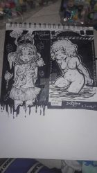 Inktober 1,2 (Poison and Tranquil) TRIGGER WARNING by FujoshiAriaArt