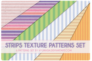 Strips Texture Pattern Set by hyunasia