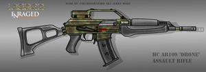 Fictional Firearm: HC-AR109 Assault Rifle by CzechBiohazard