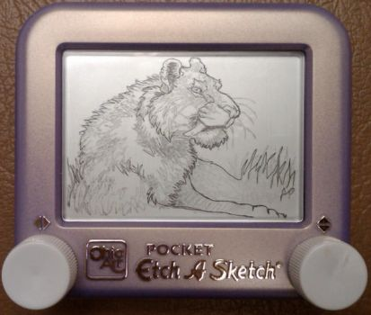 EtchaSketch- Smilodon by jivu