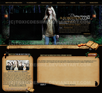 Brittany Robertson Layout by toxicdesire