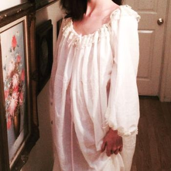 18th Century French Nightgown(Front) by WaywardDamsel