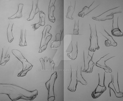 Feet References by Maruseria