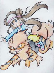Mei and Arcanine by beckyboc