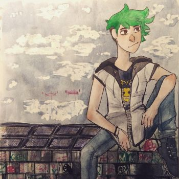 Sean on the wall by Nekaytka