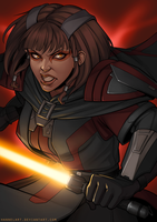 Imperial Diehard: Sith Warrior by hannelArt