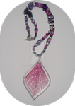 Metallic Fuschia Passion Necklace  SOLD by SavageFrog