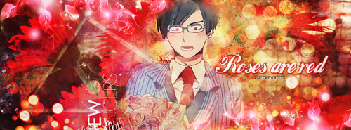 [T-based] Roses are red - Iida Tenya by BelliaFairy