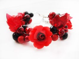 Bracelet - Red garden by Benia1991