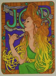 Mucha's Job colored by pixitrixter