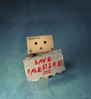 Save Palestine by Danbo by hendymanoid