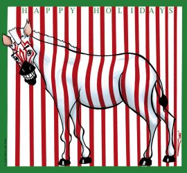 Xmaszebra by sinccolor