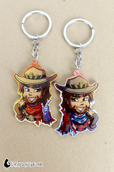 McCree Burger Keychain by DragonBeak