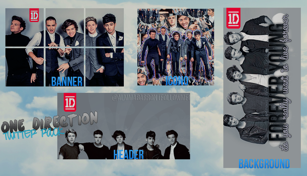 1D Twitter Pack by InvisivleLove
