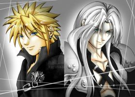 Sephiroth and Cloud by Zzzeus