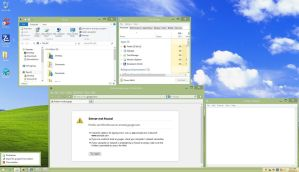 Windows XP Luna Olive Theme For Windows 8 by winxp4life