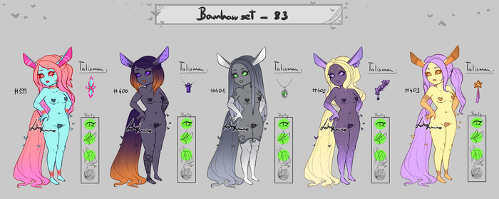 Bamharr set 83 - closed - first timers by LotusLumino