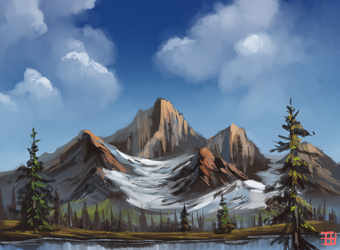 Bob Ross Paint along by griffsnuff