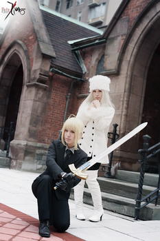 Fate/Zero - Saber and Irisviel by Angela-Chao