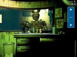 Springtrap Definitely Has a Human Inside by gold94chica