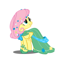Fluttershy At the Gala by Takua770