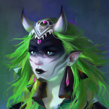 Green demon by NerinFox