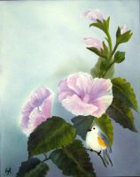 Roses + Titmouse by W. Redman by wanred