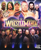Wrestlemania 34 Poster by WWESlashrocker54