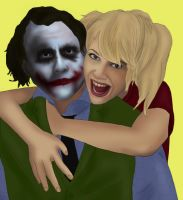 Joker + Harley: GTFO Me by BLOOD-and-LUST-87