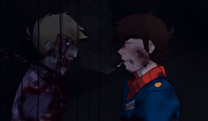 || Zombie Locked || Happy Helluween || Eddsworld by Gh0st-Pie