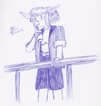 Grace - Ballpoint Challenge by cullsoft