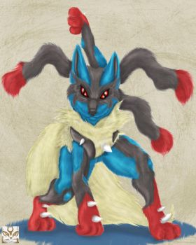 Mega Lucario by KayciKreations