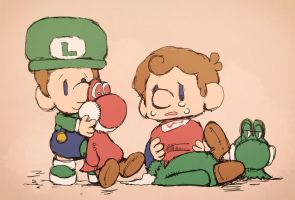 Baby Luigi and Baby Mario. by Uroad7 by Uroad7