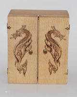 Celtic Dragon Pyrography by Itsmerick