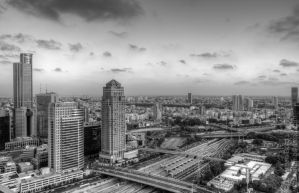 Ramat Gan and Ayalon, Dusk. by JBord