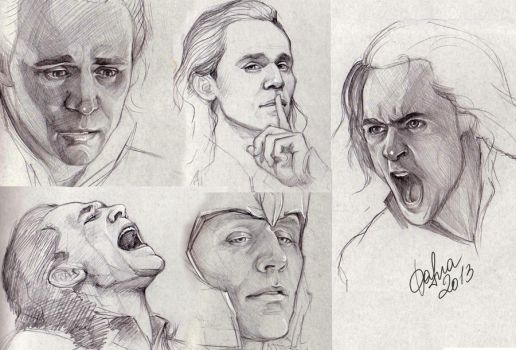 Loki sketches by DafnaWinchester