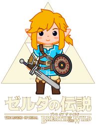 Link, Zelda Breath of the Wild Chibi by Chrivart