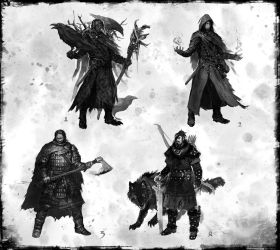fantasy concept characters 02 by DarkEnter