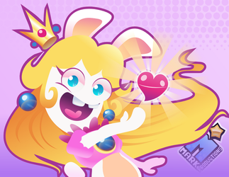 Rabbid Peach by MarkProductions