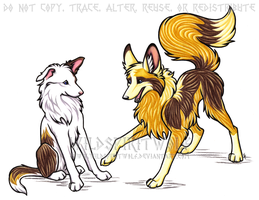 Fritter And Grace Commission by WildSpiritWolf