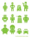 Alternative Android Logos by mattcantdraw