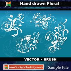 Hand Drawn Floral-Vector by Stockgraphicdesigns