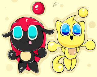 Chao .:Mighty - Ray:. by x7SilvrCaos7x