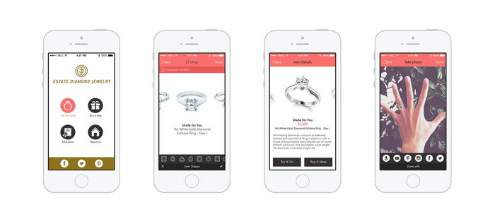 Jewelry iPhone App by ifeell