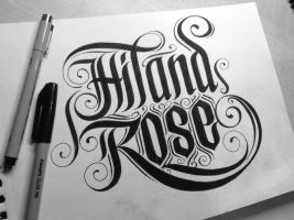 Calligraphy for Hiland Rose a fellow deviantartist by orioncreatives