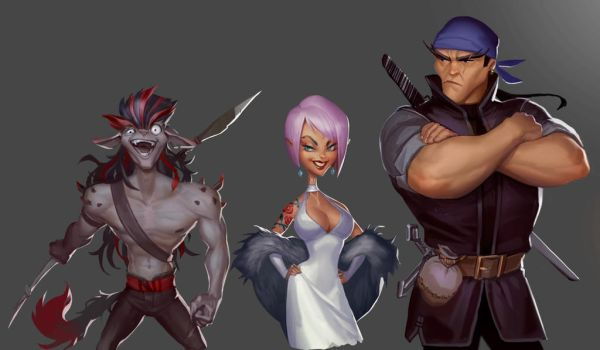 Concept characters by Kika-alf