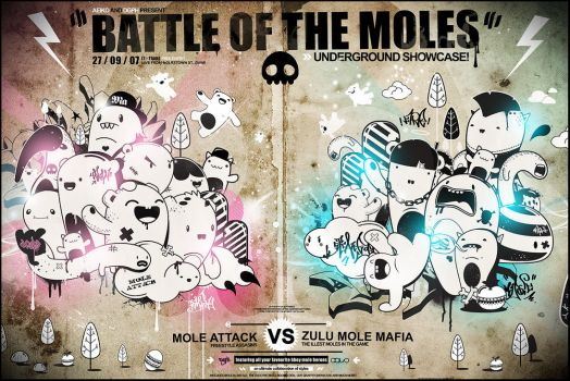 Battle of the Moles by pete-aeiko